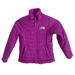 North Face Girls Reversible Mossbud Swirl Jacket